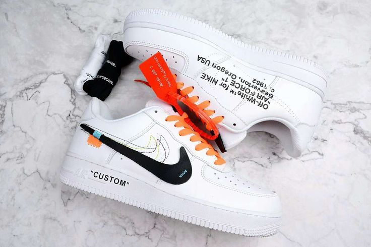 Dislocación Polvo Económico  Off white nike air force 1 AF1 low white custom | Nike air shoes, White nike  shoes, Custom nike shoes