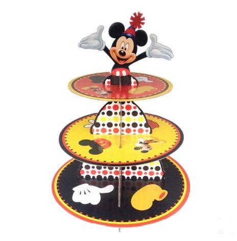 Новое поступление 1 компл. микки кекс стенд дети день рождения ну вечеринку картон кекс стенд провести 24 кексы купить на AliExpress