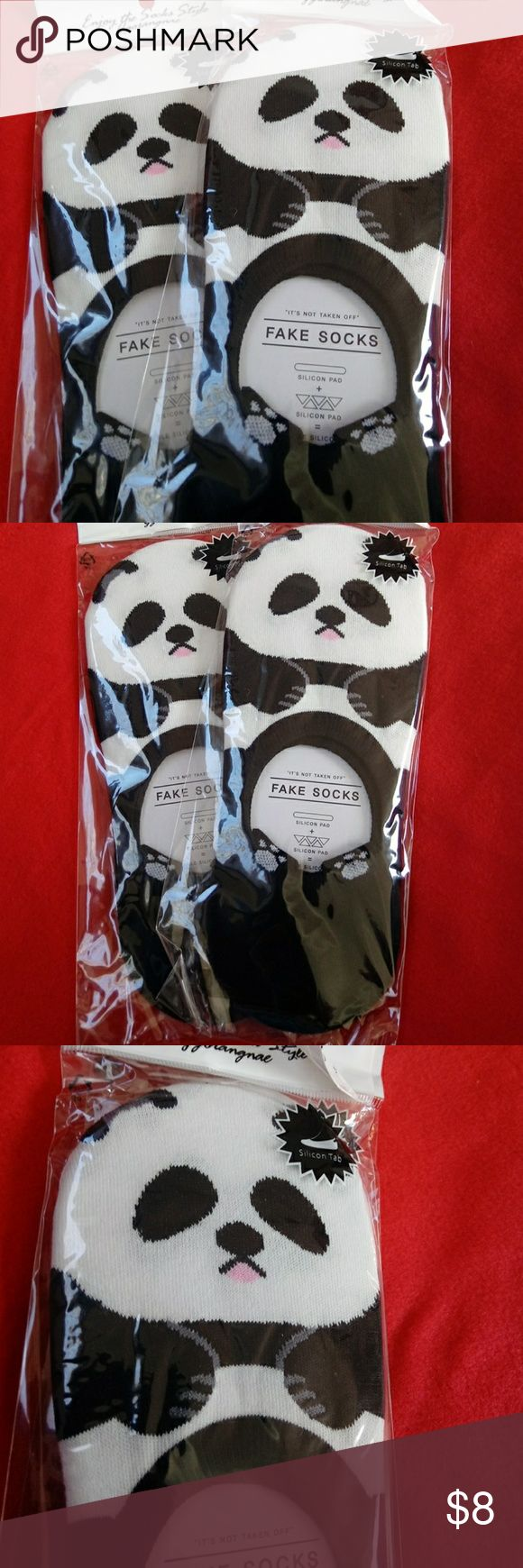 CUTE PANDA SOCKS Cute animal ankle socks. Cotton 75% Spandex 18% Polyester 6% Fits women sizev5-11 Accessories Hosiery & Socks #sockscute