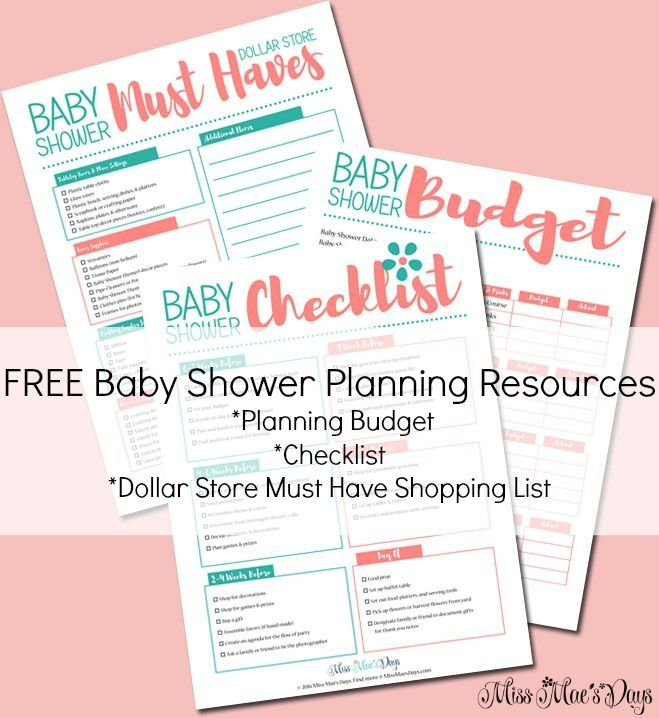 FREE Baby Shower Planning Resources- Budget Planner, Checklist, Dollar Store Must Have Shopping List. Plan a Gorgeous Baby Shower on a Dollar Store Budget!
