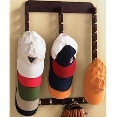 Best 25 baseball hat racks ideas on pinterest baseball cap rack baseball hat display and - Creative hat storage ideas ...