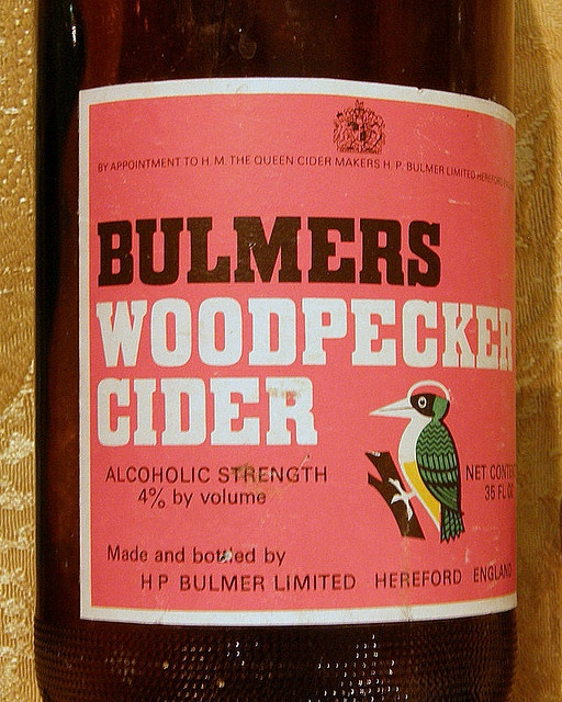 Bulmers woodpecker cider by Wanderin' Weeta, via Flickr