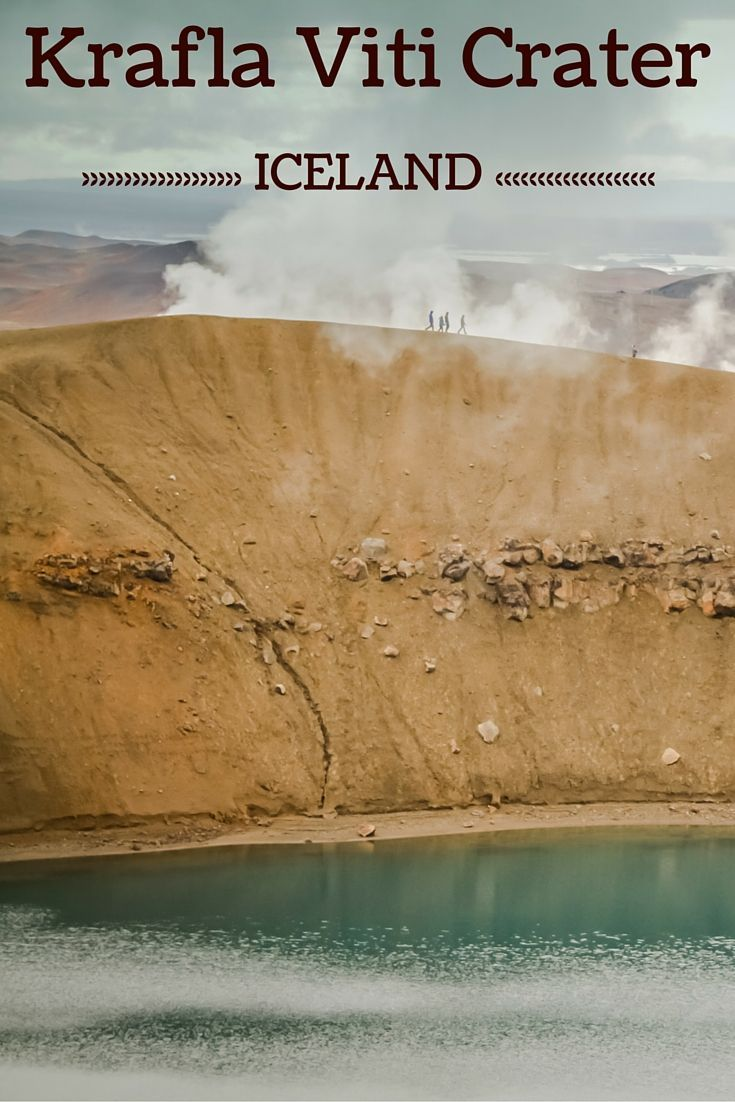 Surreal walk around the rim of a crater! - Travel Guide Iceland : Plan your visit to the Krafla Viti Crater - more photos in the post