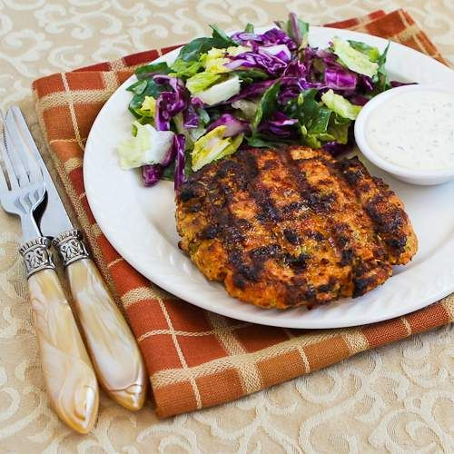 Grilled Fresh Salmon Burgers with Caper Mayonnaise ~ via this blog ...