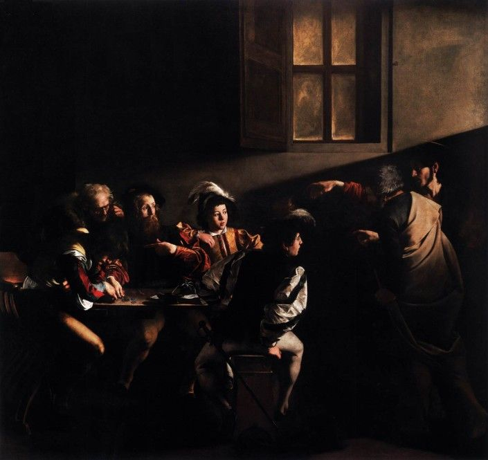 History of Western Art from Renaissance to Today -   Caravaggio -The Calling of Saint Matthew