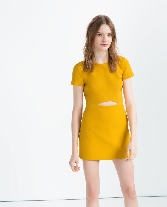 Image 4 of JUMPSUIT DRESS WITH CUT-OUT from Zara