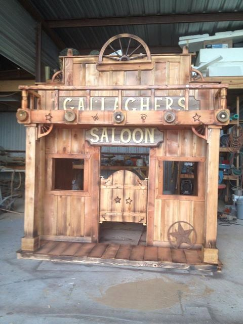 Western Saloon Loft Bed Playhouse by TinyTownStudios on Etsy, $2250.00