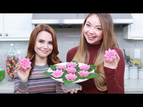 Lotus Flower Vegan Cookies | Rosanna Pansino