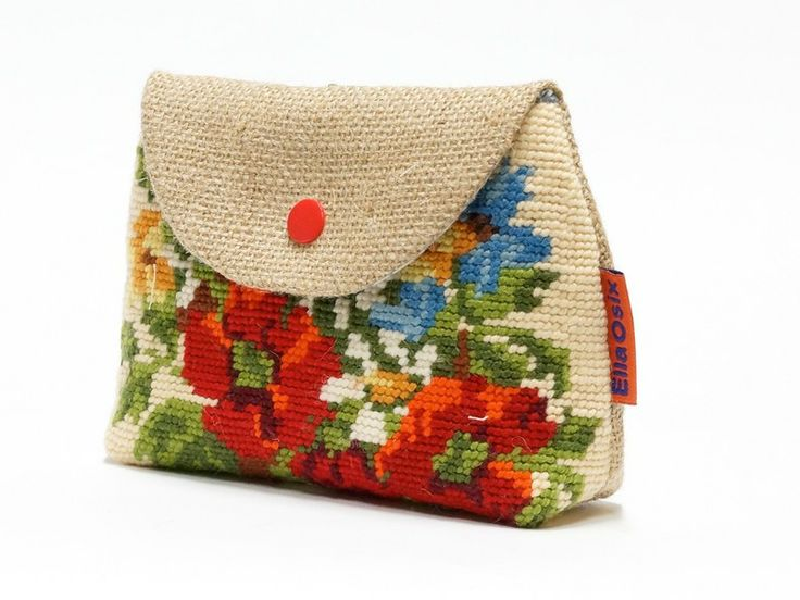Vintage Needlepoint Makeup bag