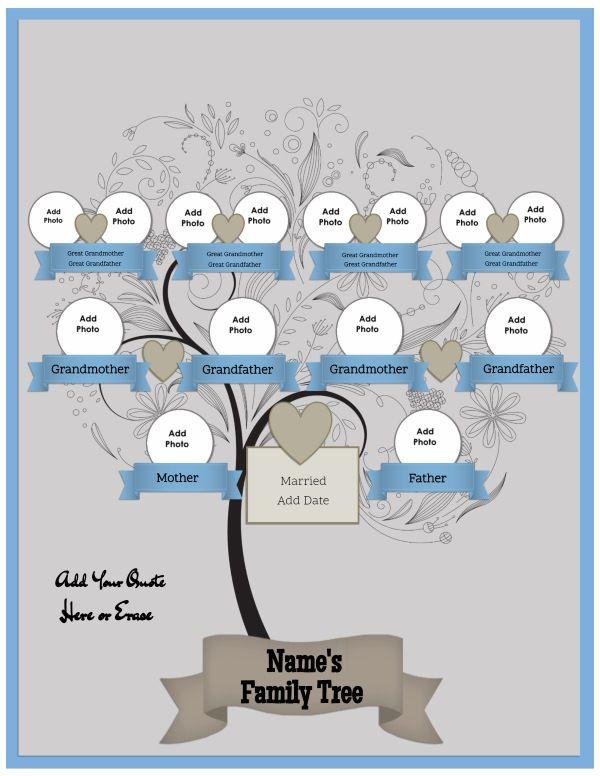 25+ ide terbaik tentang Free Family Tree di Pinterest - family tree template