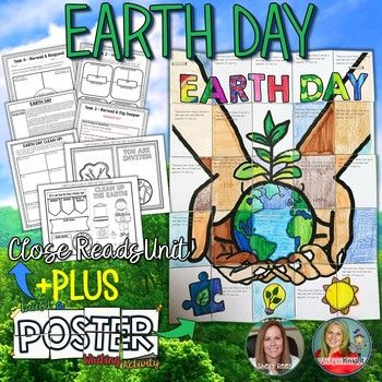 Earth Day is a wonderful spring celebration around the world. In April, Schools around the world come together to recognize our beautiful planet Earth. Your students will enjoy learning about the history, symbols, meanings, and the importance of Earth Day with the components of this engaging, helpful resource!In addition to the beautiful Earth Day collaborative poster, students will complete a Close Reading unit and activities.