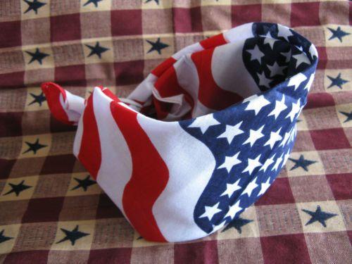 New Proud American USA Flag Head Wrap Bandana Patriotic Design Hair Wrap Scarf   eBay