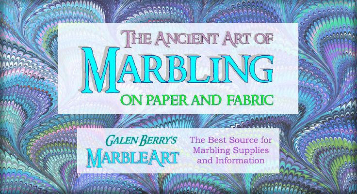 The Art of Marbling -- Marbled Paper & Marbling Supplies
