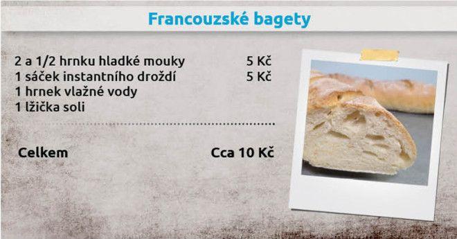 Recepty Ládi Hrušky - Francouzské bagety