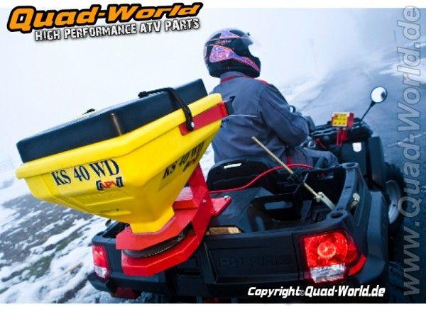 APV KS40WD elektrischer Streuer Salzstreuer Streugerät für den professionellen Einsatz Geeignet für ATV  Quad, PKW