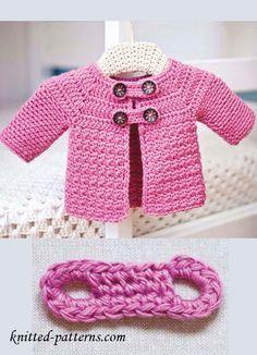 Crochet Baby Jacket - Tutorial ❥ 4U hilariafina…