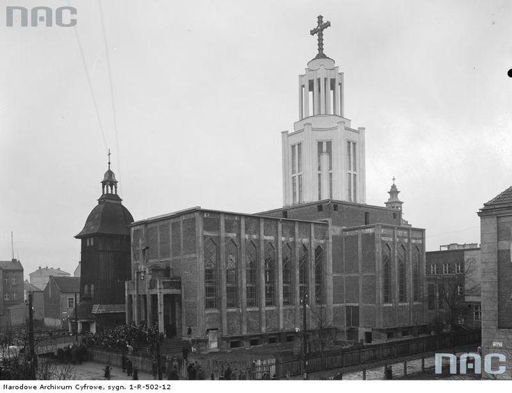 Widok zewnętrzny kościoła.Borek Fałęcki Kraków