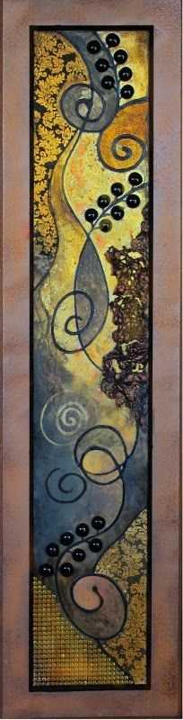 "CAROL NELSON                                           FINE ART BLOG: ""Vienna Inspiration"", textured mixed media abstrac..."