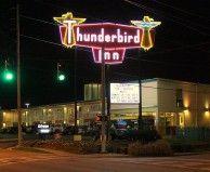 Thunderbird Inn, Sign at Night