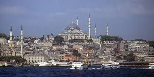 The skyline of Istanbul and all the Mosques is a typical Turkish symbol