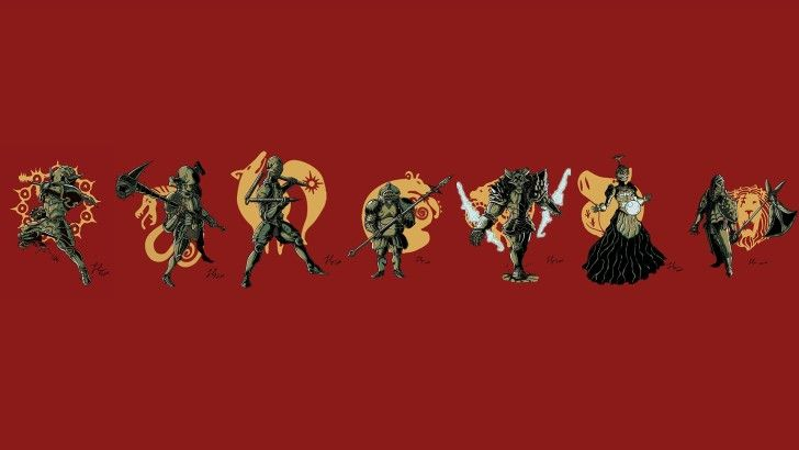 The Seven Deadly Sins Armor Weapon and Logo Wallpaper