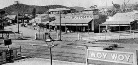 Woy Woy Railway Station. Woy Woy is a suburb on the Central Coast of New South Wales...just South of Gosford (Photo undated) v@e