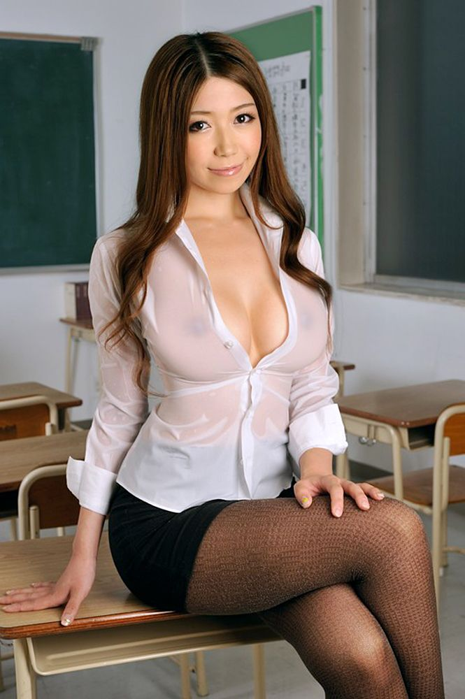 Busty naked teacher