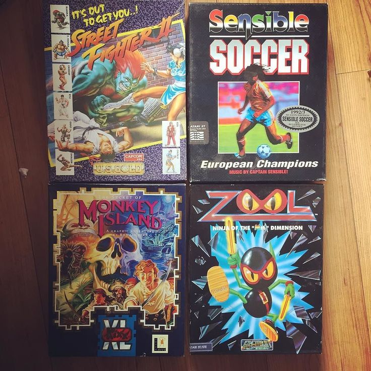 Curious one by handsome_frank #atarist #microhobbit (o) http://ift.tt/2chOsoM teenage hours spent playing these classics. #AtariST #StreetFighter2 #SensibleSoccer #MonkeyIsland #Zool