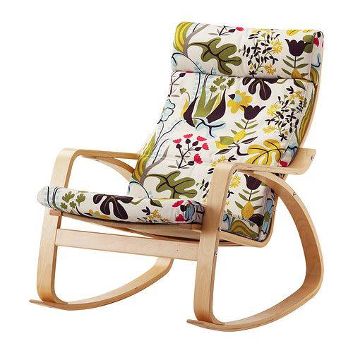 IKEA - POÄNG, Fauteuil à bascule, Blomstermåla multicolore, plaqué bouleau, , Structure en multiplis de bouleau, un matériau très solide et résistant à l'usure.</t><t>Dossier haut vous offrant un bon soutien de la nuque.</t><t>Grâce à ses propriétés isolantes naturelles, la peau de mouton est chaude et confortable au toucher.</t><t>Il existe un choix de coussins pour vous permettre de renouveler facilement l'aspect de votre canapé et celui de toute la pièce.</t><t>Garantie 10 ans…