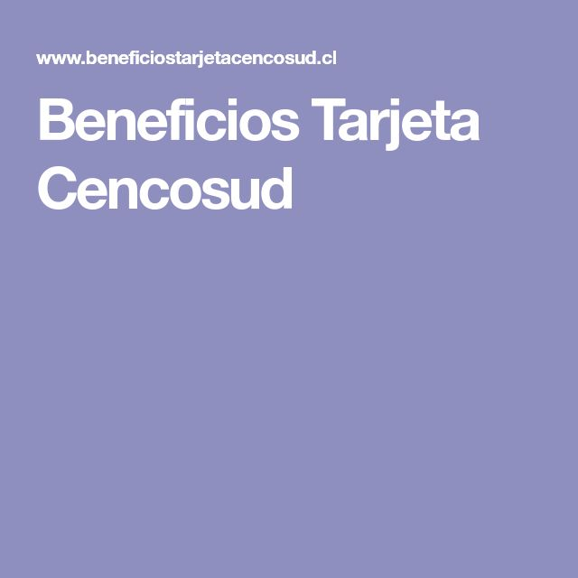 Beneficios Tarjeta Cencosud