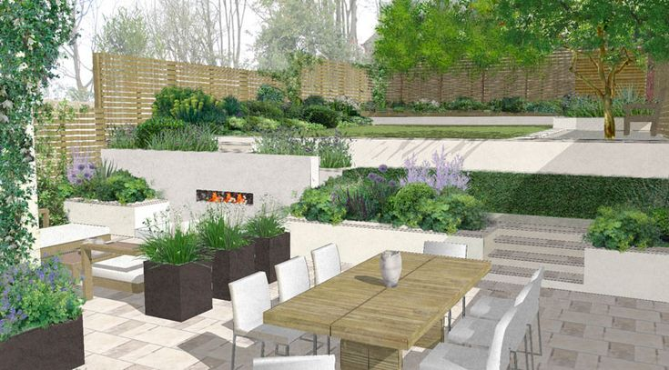 Vue sketchup   Garden design plans, Garden landscape ... on Sketchup Backyard id=66212