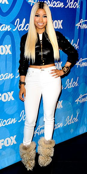 - NICKI MINAJ - Booties ruin an otherwise cool ensemble