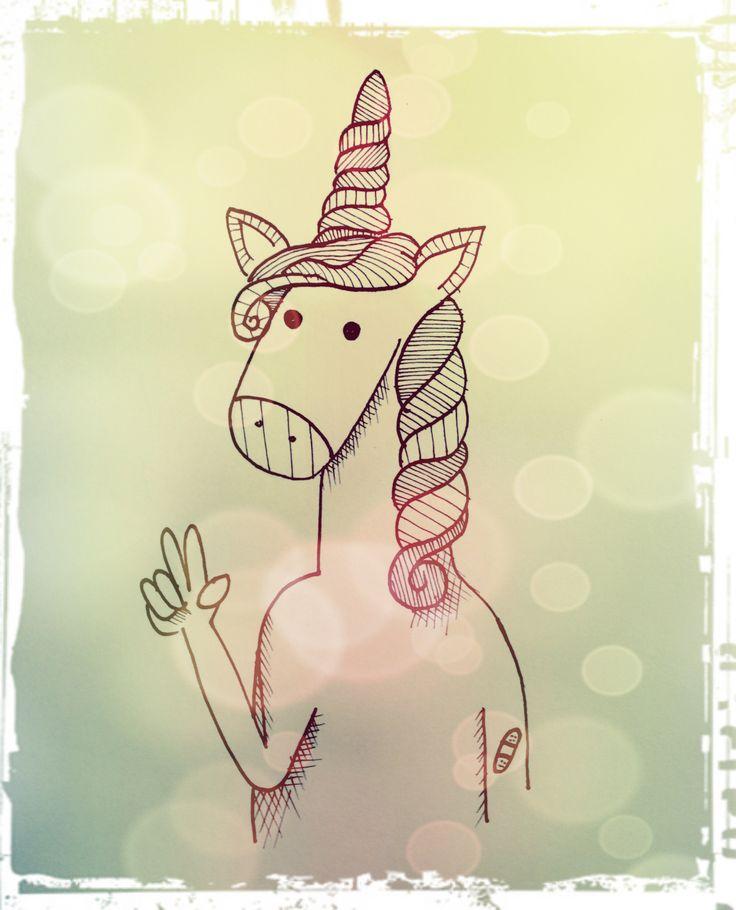 unicornio unicorn draw.  estilografos