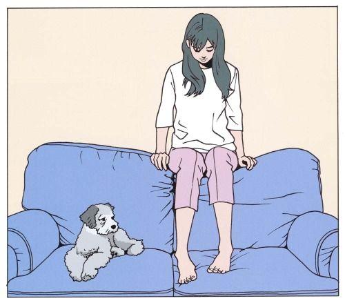 江口寿史-「どんなものでも君にかないやしない 岡本靖幸トリビュート」インナージャケット(2002)