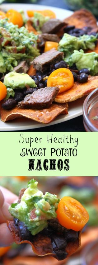 Super Healthy Sweet Potato Nachos recipe was a huge blessing while doing the elimination diet. Gluten, dairy, corn free and yet so tasty. Recipe has homemade sweet potato chips, tender grass-fed beef, nutrient rich black beans and zesty guacamole.
