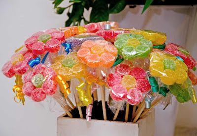 Flores de doces