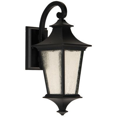 Craftmade Argent II 1 Light Outdoor Wall Lantern Finish: Midnight