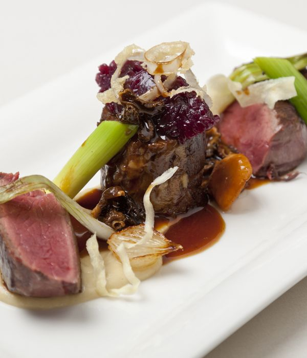A wonderful celebration of beef from chef Simon Haigh pairs a prime fillet cut with braised oxtail.