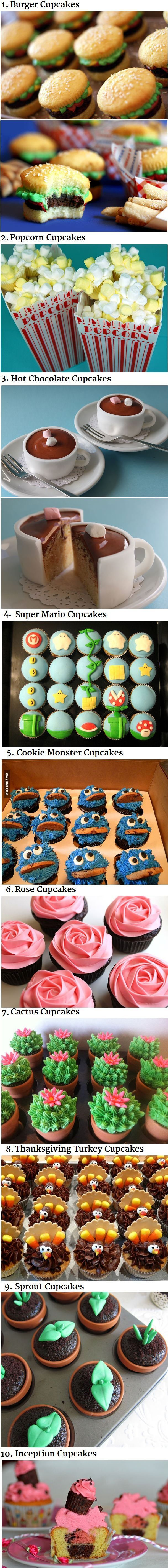 10 Awesome Cupcake Decorating Ideas - I had to wipe away the drool before I pinned this!