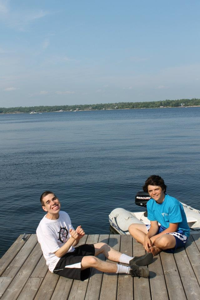 Hanging out on the dock at Camp Kitchikewana