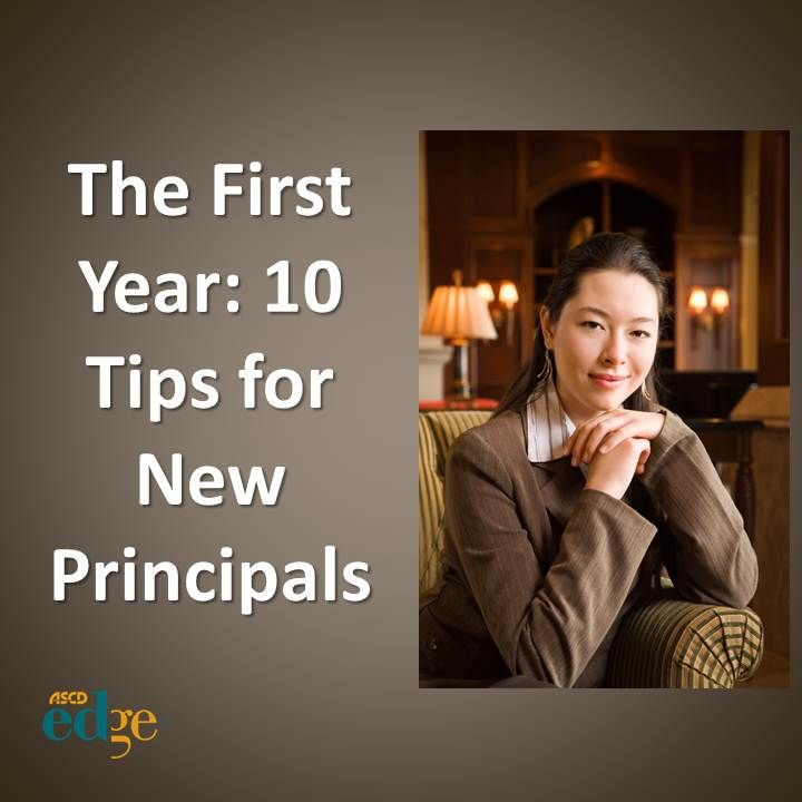 Ten tips for first year principals