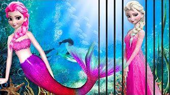 Frozen Elsa In Jail | Frozen Mermaid Elsa Finger Family Rhymes | Joker Police Spiderman Frozen Songs - YouTube