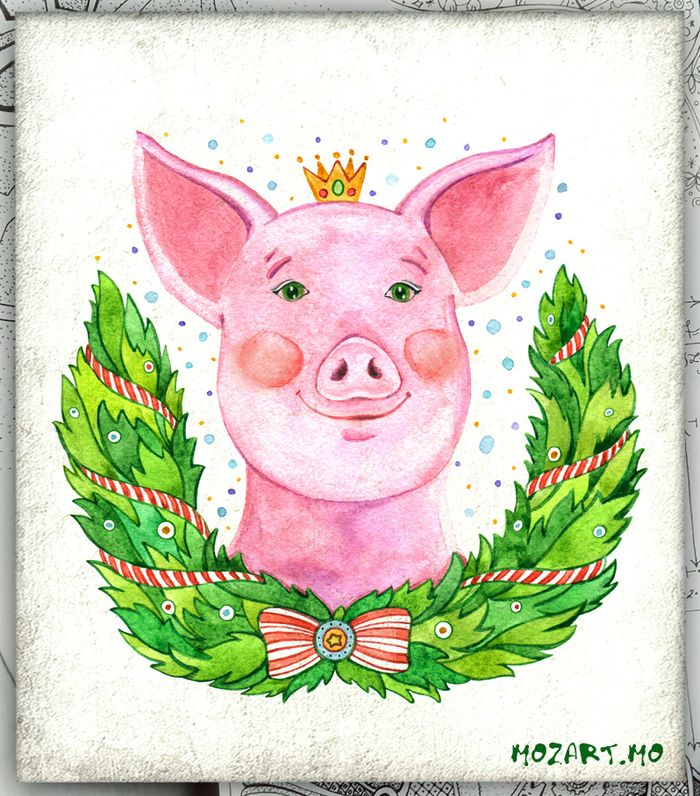 Марками фото, открытка свиньи