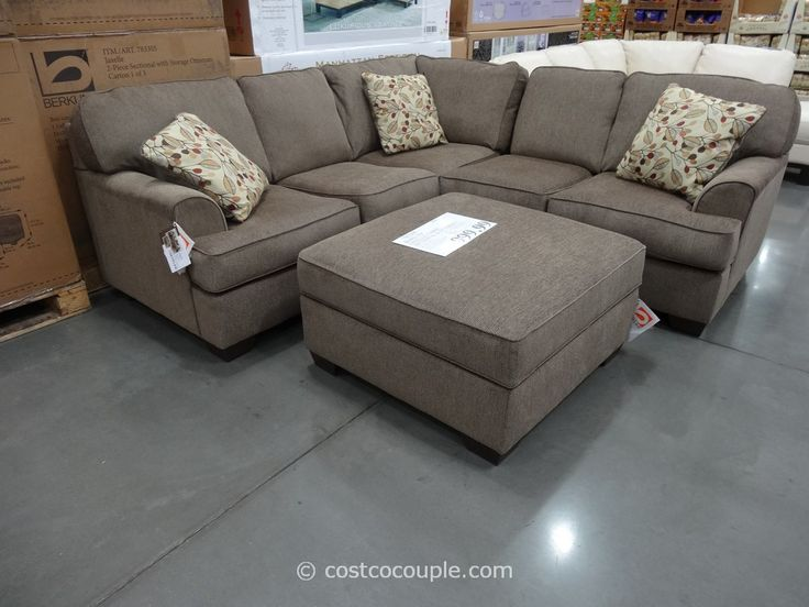 Sofa Covers Possible Costco Castle Harbor Fabric Sectional with Storage Ottoman
