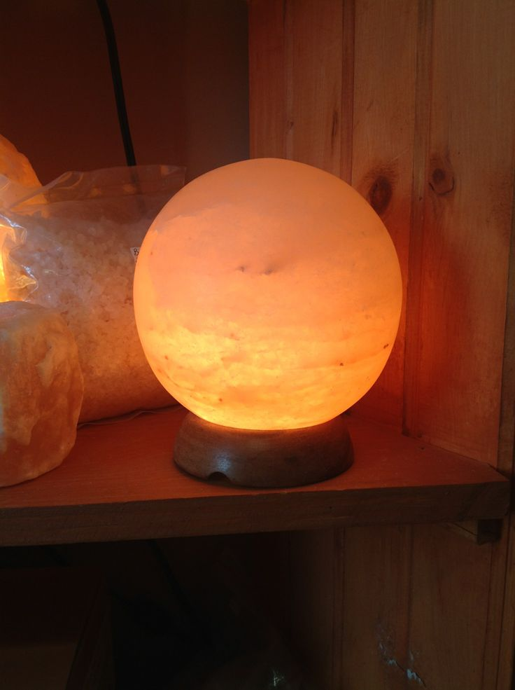 Round Himalayan Salt Rock Lamp Sold at Grapevine Cottage (705) 445-8001 www.grapevinecottage.ca