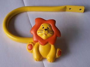 novelty bedroom nursery animal lion orange & yellow curtain tiebacks holdbacks *