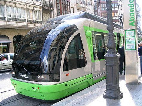 Tranvia  in Bilbao   Basque Country