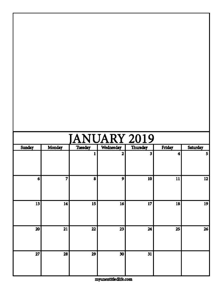 2019 Decorate Your Own Calendar Free