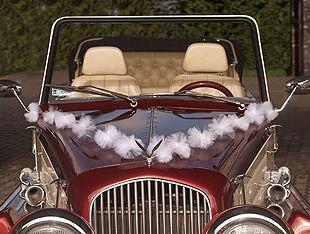 Guirlande tulle voiture mariage