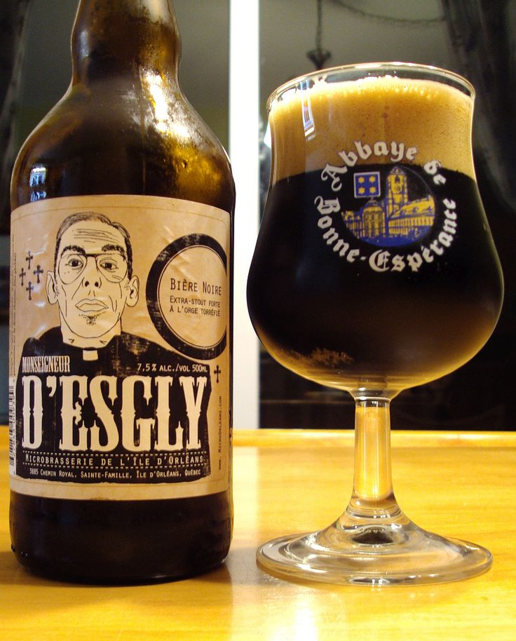 Monseigneur D'Esgly - Microbrasserie De l'Ile D'orlean craftbeerquebec.ca #dégustation #bière #microbrasserie #québec #bièreduquébec #iledorleans #boirelocal #craftbeerqc #bièreqc #drinkcraft #craftbeer #stout